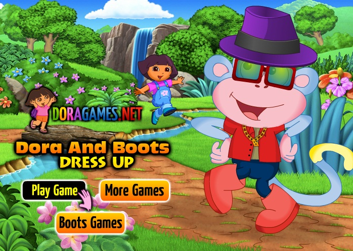 Click Here to play Dora and Boots Dress Up